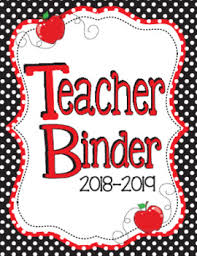 Teacher Binder Templates 2018 2019 Black And Red Teacher Binder Planners Forms And Templates
