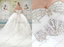 sexy dream big tail wedding dresses ball gown tulle sweetheart