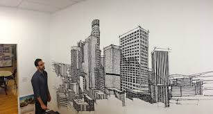 office wall mural. cozy office depot wall decals rameen admires the completed corporate murals full size mural p