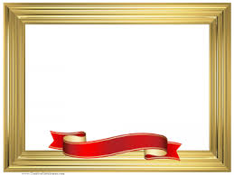 gold ribbon border free certificate border bksamara