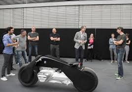 bmw motorrad s futuristic motorcycle concept keeps the rider in