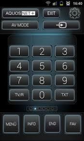 sharp smart tv remote. sharp smart remote + apk screenshot tv
