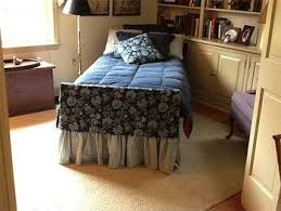 Want to make your hospital bed at home a little less dreary? Try this quick  bedskirt and footboard design tip.