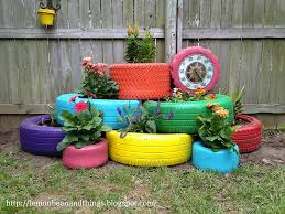 recycled tires garden planter