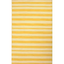 yellow and white rug yellow and white area rug flat weave stripe pattern yellow white wool