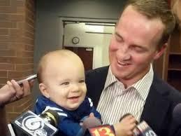 peyton manning kids. Peyton Manning With One Of His Twins (credit: CBS) Kids L