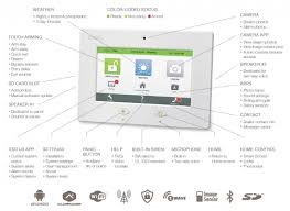 touch all in one touchscreen security system security dsctouch panel left touch feature highlight graphic