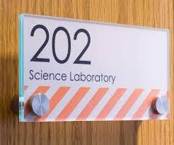 Workshop Series 6 X 3 Door Sign W Acrylic Plates Standoffs Film Sheets