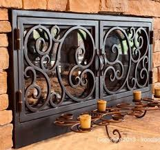 ironclad doors iron fireplaces and gates gorgeous fireplace wrought custom door gallery ponderosa forge