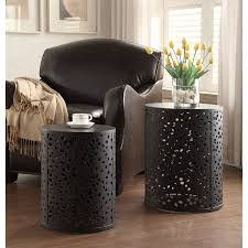 side tables for office. innovative metal accent table office star products 2 piece round tables free side for