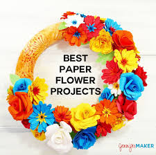 Paper Flower Images Paper Flower Projects The Best Tutorials Jennifer Maker