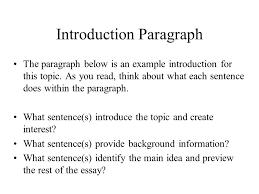 introduction conclusion paragraphs ppt video online introduction paragraph
