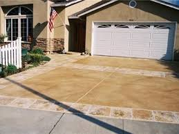 stamped concrete overlay. Stained Driveway, California Concrete Driveways Custom Resurfacing, Inc. San Jose, CA · Stamped Overlay 3