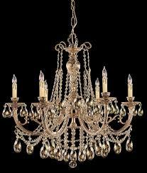 6 lights cast brass crystal chandelier