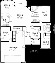 49 lovely gallery ranch house plan bonus room