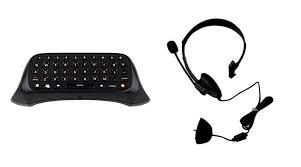 audifonos y chatpad de xbox