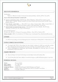 Best Resume Format For Freshers Professional Resume Format For