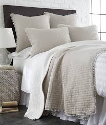 white tan pom quilt twin your