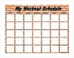 work out schedule templates weekly blank exercise schedule template free calendar workout