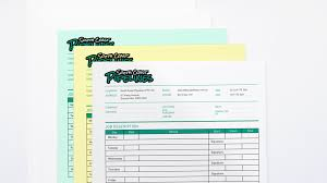 receipt book printing printed invoice books carbonless books