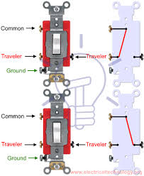 2 way switch how to control one lamp Comon Single Pole Switch Wiring Diagram Switch Leg Wiring-Diagram