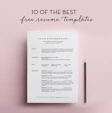 Excellent Resume Templates Inspiration 28 Free Resume Templates SundayChapter Pinterest Template