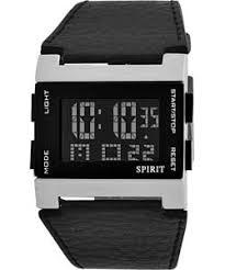 watches uk mens watches spirit men s black strap digital watch