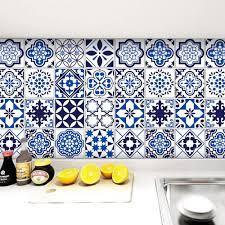 Buy Windeco Thicken Blue Tile Wallpaper ...