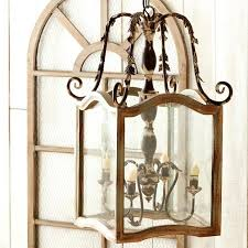french country lighting. French Country Lighting Ideas Wood Foyer Light And Metal Chandelier With Intricate Detail On
