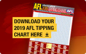 Afl Tipping Chart 2018 Printable Afl 2019 Tipping Chart Free Download Pdf Wallchart The