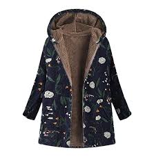 inexpensive yf army green tuduz womens warm winter parkas coats fl print hooded pockets vintage oversize