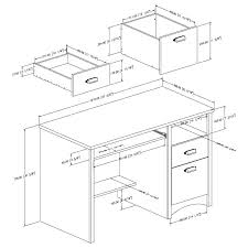 office desk size. Office Desk Size Typical Height Dimensions Chic Home Standard Metric F