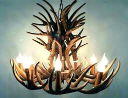 chandeliers deer horn chandelier antler diy faux the antle