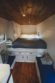 Van Conversion Interior Design Adorable Wood Interior Ideas For Sprinter Van Camper 38