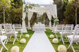 of wedding decoration in the garden