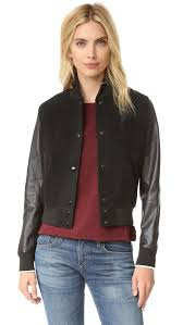 details about women s rag bone jean black wool leather camden er jacket coat size l