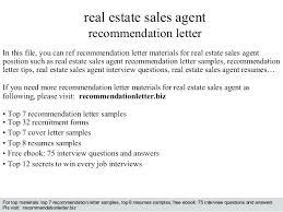Real Estate Referral Letter Letter Of Recommendation For Real Estate