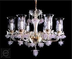czech crystal chandelier 6 arms w x h 58 x 45