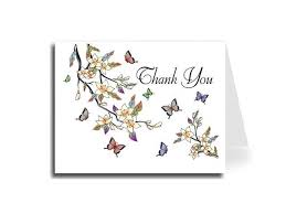 Thank You Cursive Font Artisan Decor Elegant Butterflies Thank You Card Set Of 20 Florentine Cursive Font