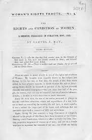 upstate new york and the women s rights movement rbscp the rights and condition of women