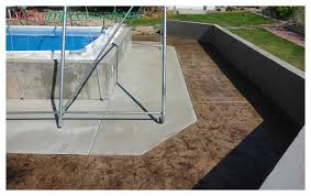 simple above ground swimming pool landscaping deck extension