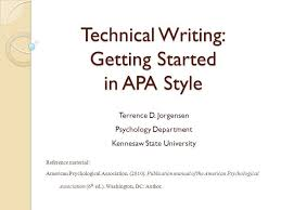 What Is Apa Style Writing Technical Writing Getting Started In Apa Style Ppt Video