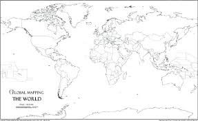 World Map Black And White Printable With Countries World Map Black And White Plain Countries Blank Printable With