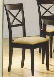 dining chairs design wood. coaster dining chairs, cross-back design, dark cappuccino, set of 2 chairs design wood c