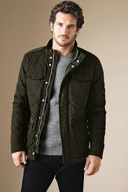 next mens quileted jacket