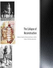 us ii honors reconstruction dbq summer essay reconstruction 11 pages the collapse of reconstruction