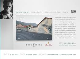 book lounge launch of undercity the other cape town by david lurie david lurie