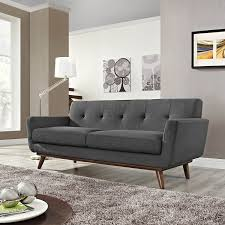 sofa design with mid century modern type legs from modway nonagon style