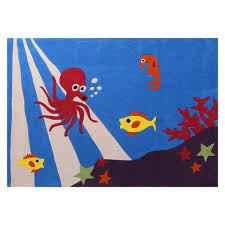 under the sea kids rug by bright kids
