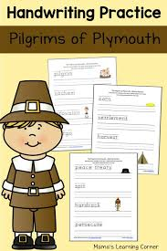 The Pilgrims at Plymouth Writing Practice | Handwriting practice ...